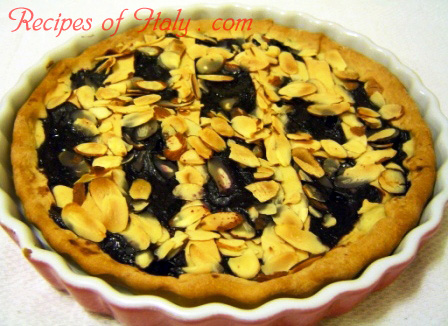 Almond Tart with Berry Sauce Photo