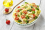 Baked Pasta with Chicken, Broccoli and Cherry Tomatoes Photo