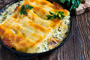 Cannelloni with Chicken and Broccoli in Alfredo Sauce Photo