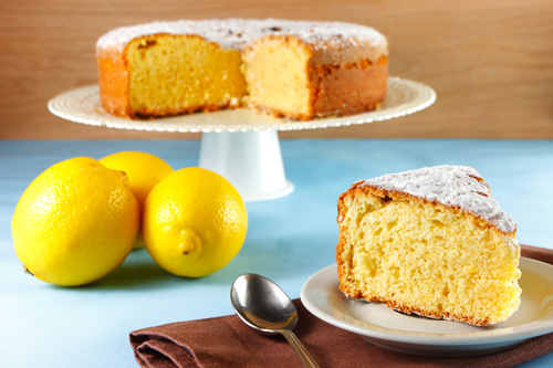 Caprese al Limone (Limoncello Cake) Photo