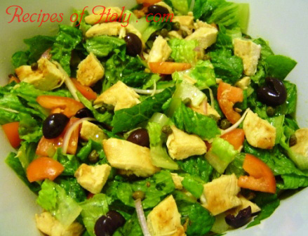 Chicken Salad with Olives and Capers Photo