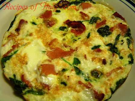 Frittata with Mixed Greens and Pancetta Photo