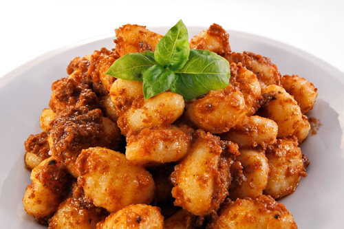 Gnocchi with Meat Sauce Photo