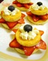 Little Star Cakes with Fresh Fruit Photo