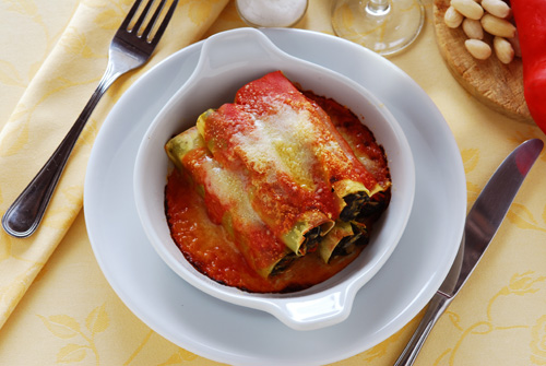 Meat and Spinach Cannelloni Photo