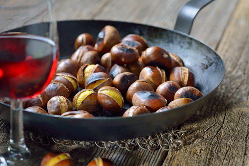 Pan or Oven Roasted Chestnuts Photo