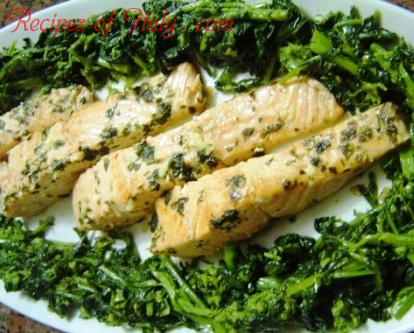 Pan-Roasted Salmon with Broccoli Rabe Photo