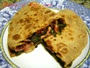 Piadina with Greens, Cheese and Pancetta Photo