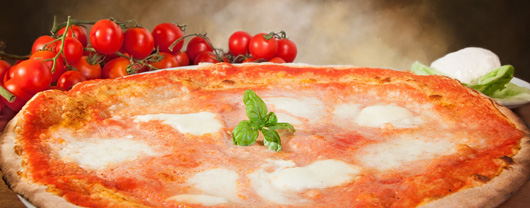 Pizza with Buffalo Mozzarella Photo