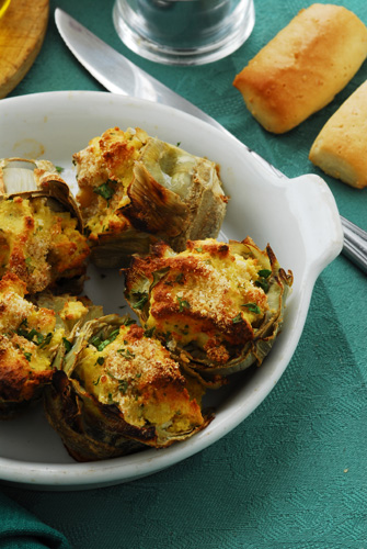 Ricotta Stuffed Artichokes Photo