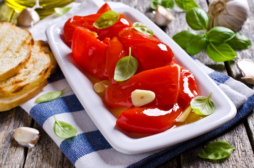 Roasted Peppers with Garlic and Oil Photo
