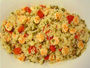 Shrimp Risotto with Cherry Tomatoes and Peas Photo