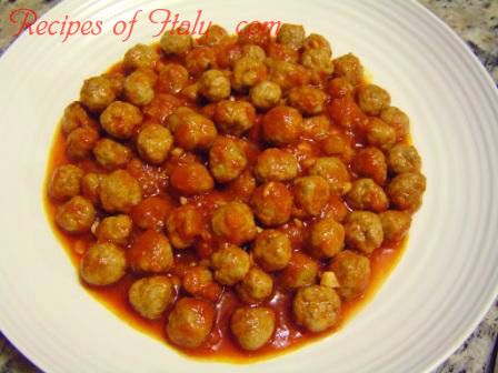 Small Meat Balls in Tomato Sauce Photo