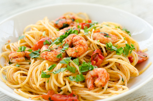 Spaghetti with Shrimp Photo