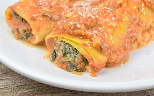 Spinach and Ricotta Cannelloni Photo