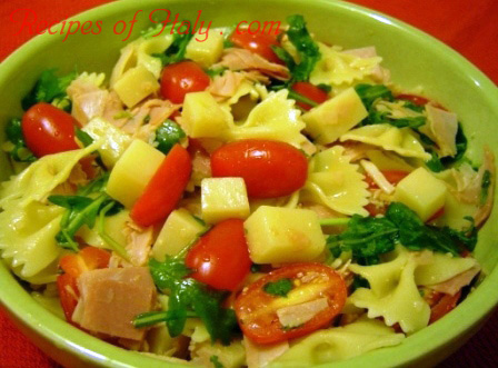 Summer Pasta Salad with Ham and Fontina Cheese Photo